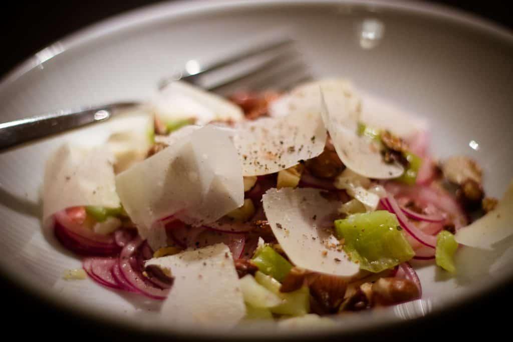 Salat med lime og æble