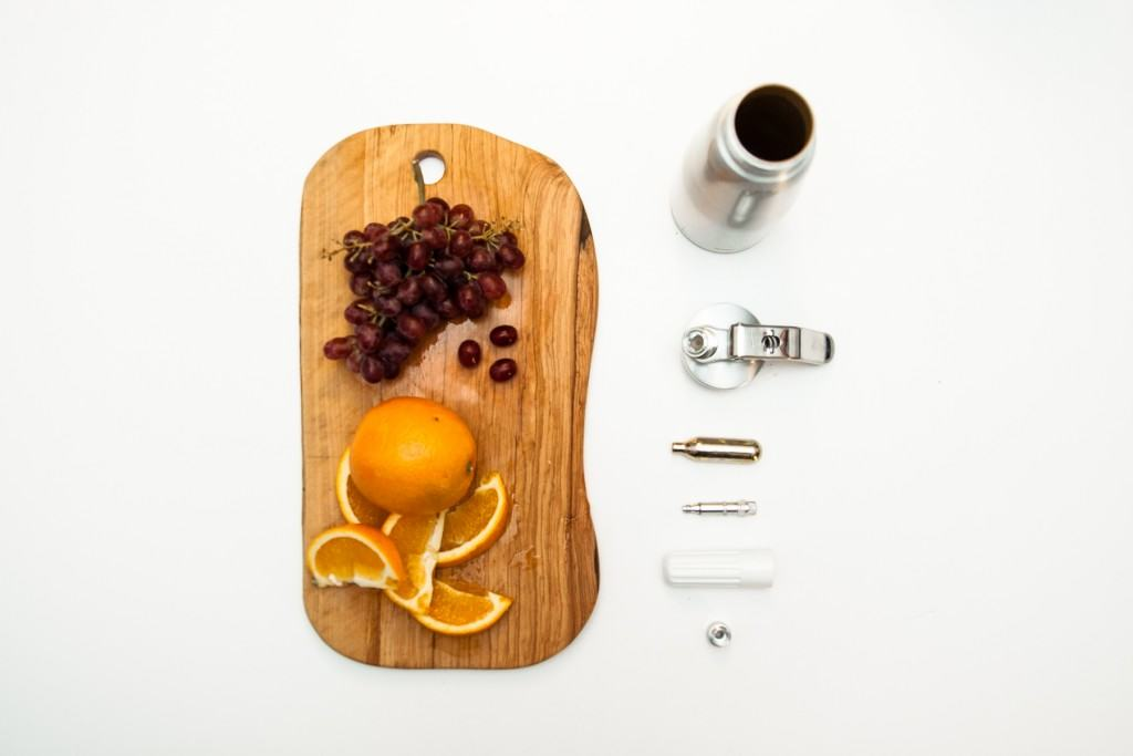 Fizzy fruit i sifon