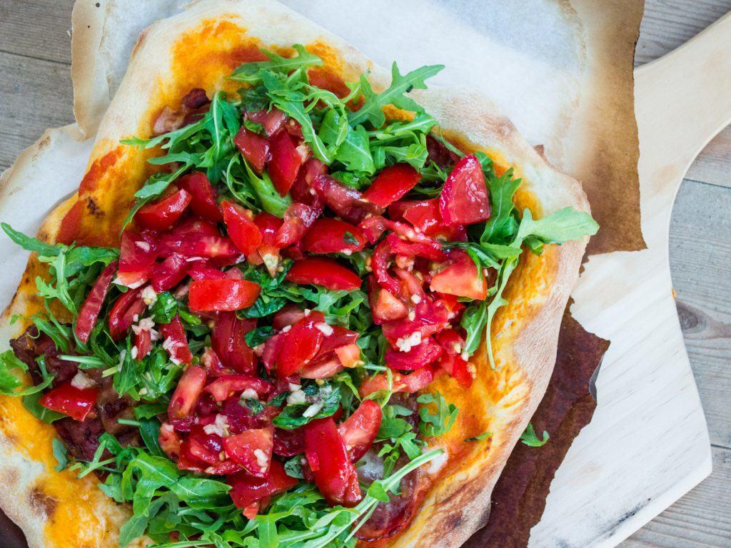 Bruschetta-pizza