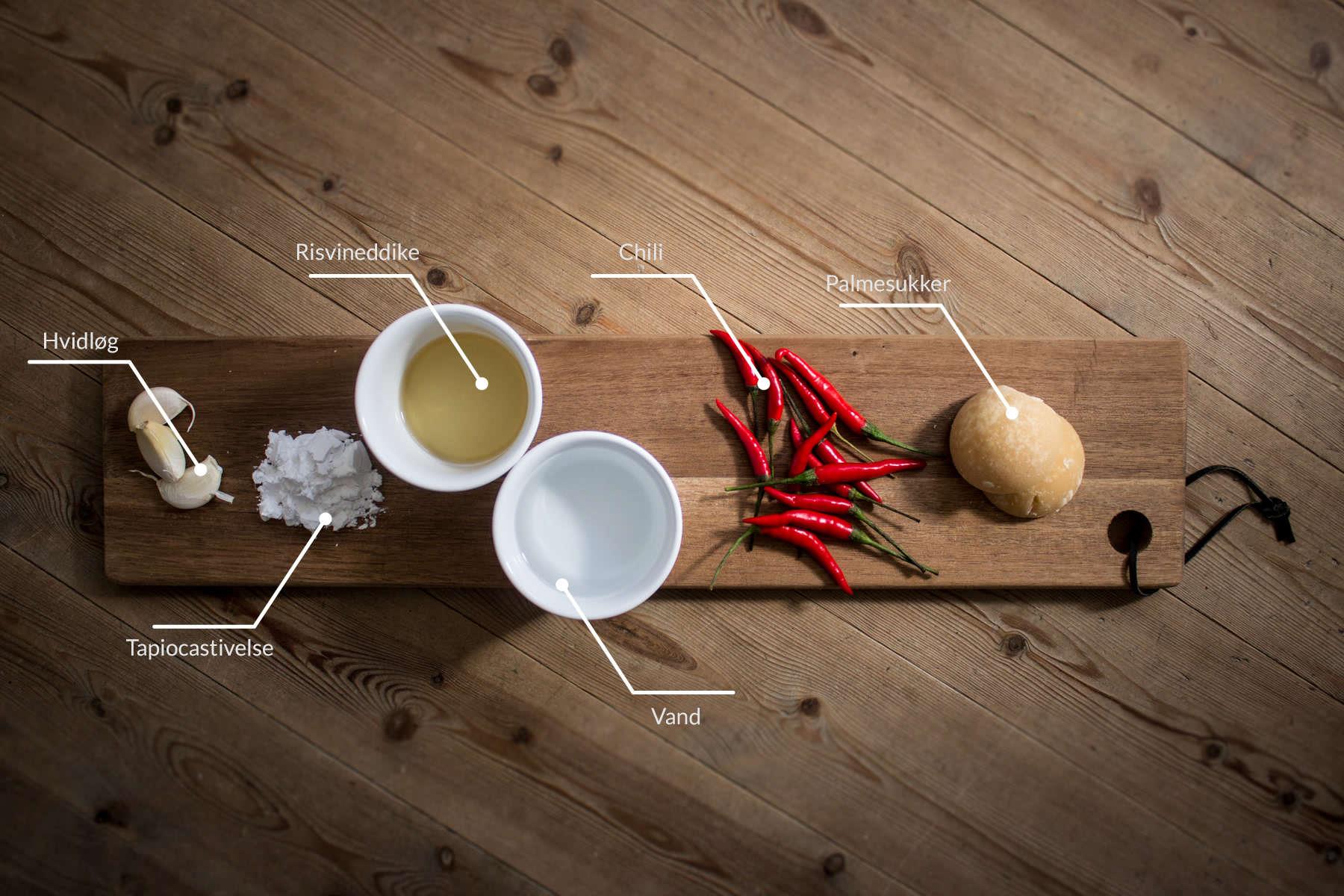 Ingredienser til nam chim kai