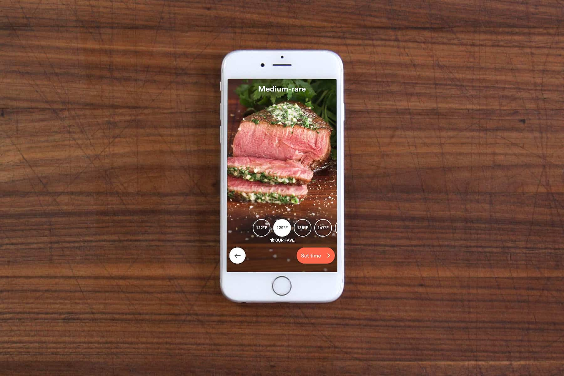 Joules app med Visual Doneness