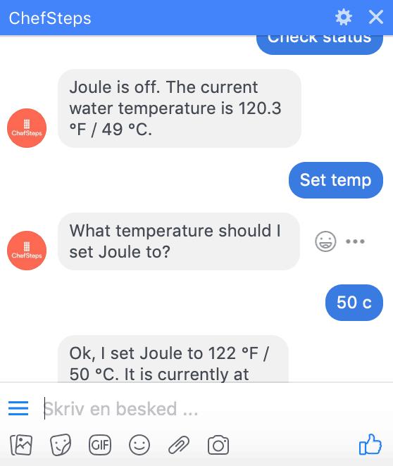 Joule kan tale sammen med Facebook Messenger