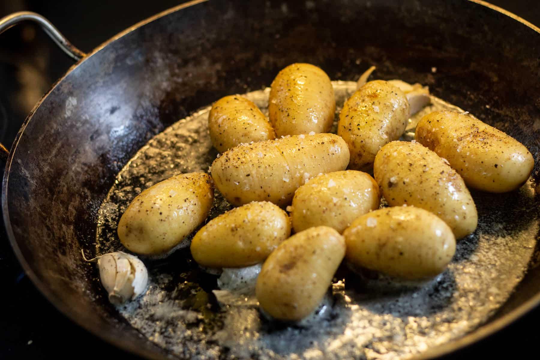 Hasselback-kartofler